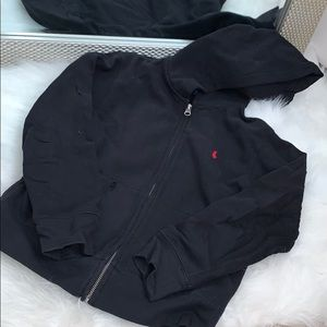 Black polo Zip up sweater